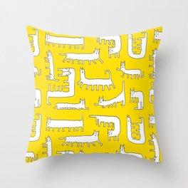 Catipede Throw Pillow