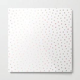 Rosegold Dots II Metal Print