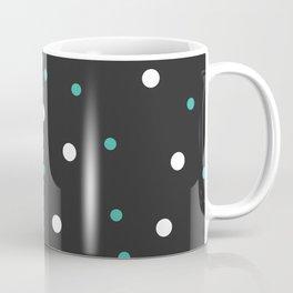 Grey and white Polka Dots Coffee Mug