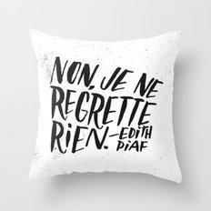 Edith Piaf Throw Pillow