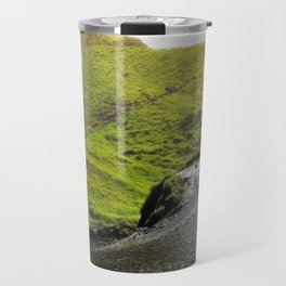 Behind Seljalandsfoss Waterfall in Iceland (2) Travel Mug