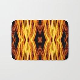 Flame Pattern Fire Astract Bath Mat