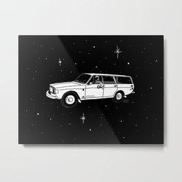International Space Station Wagon Metal Print