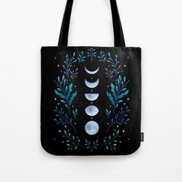 Moonlight Garden - Blue Tote Bag