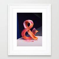 ampersand Framed Art Prints featuring & Ampersand by Pawel Nolbert