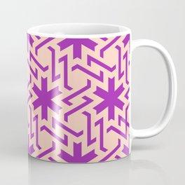 Abstract pink-purple snow pattern Coffee Mug
