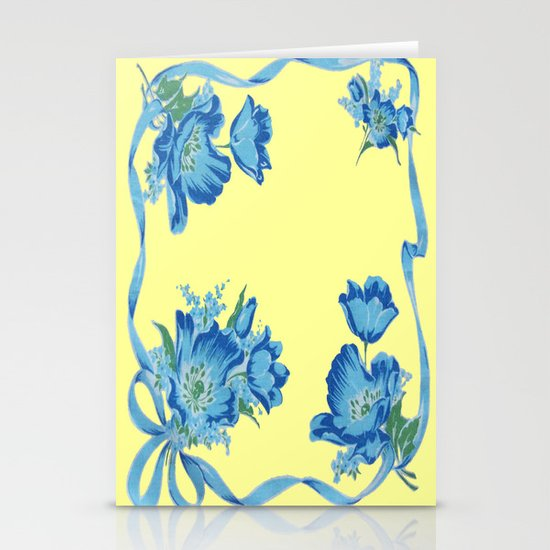 Yellow and Blue Stationery Cards