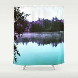 Mornings on the Lake Shower Curtain