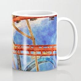 Fun on the roller coaster, close up Coffee Mug