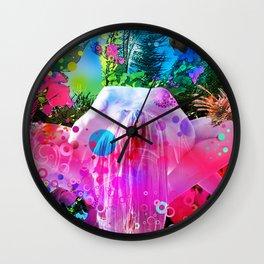 Yoga Beach Wall Clock