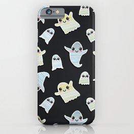 Super Cute Hand Painted Kawaii Halloween Ghosts iPhone Case