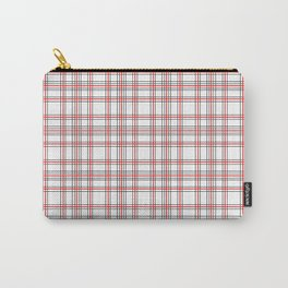 Line Ligné 4 black and red prince  of wales check Carry-All Pouch