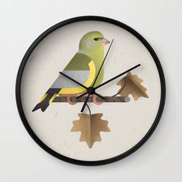European Greenfinch (cln) Wall Clock