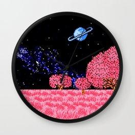 Celestial Fields of Fleeting Dreams Wall Clock