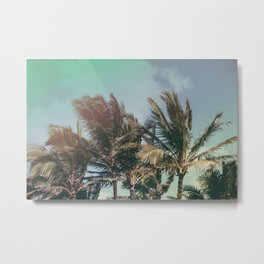 Vintage Palm Hawaii Summer Daze Metal Print
