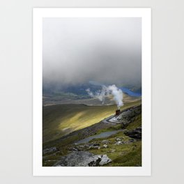 Snowdonia Mountain Railway Art Print