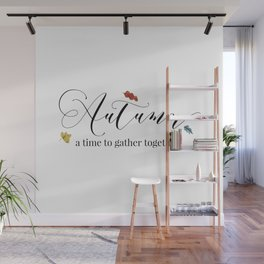 Autumn - a time to gather together Wall Mural