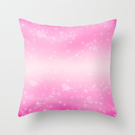 Magic deep pink heart patterned Throw Pillow