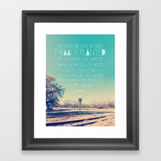 Psalm 1:3 Framed Art Print