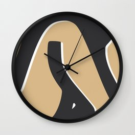 Summer tanned nude Wall Clock