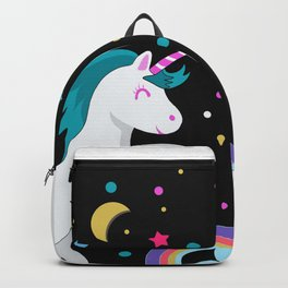 Unicorn in the night Backpack