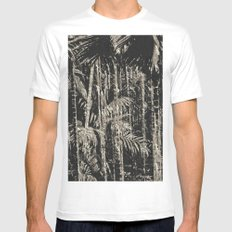 Tropical Forest White MEDIUM Mens Fitted Tee