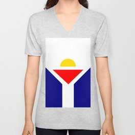 Saint Martin Flag Unisex V-Neck