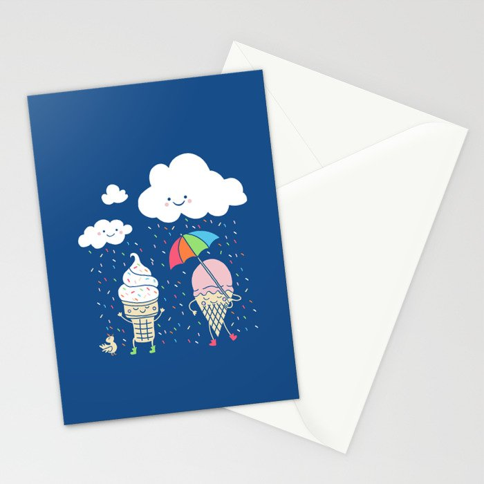 Cloudy With A Chance of Sprinkles Stationery Cards