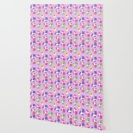 Baby Shark Doo Doo Family - Pink Pastel Version Print Wallpaper
