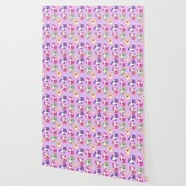 Baby Shark Doo Doo Family - Pink Pastel Version Print Wallpaper