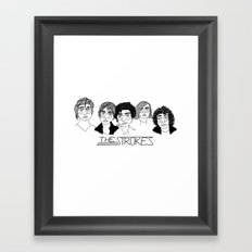 The Strokes Framed Art Print