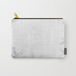 Snowflake Glitter Carry-All Pouch