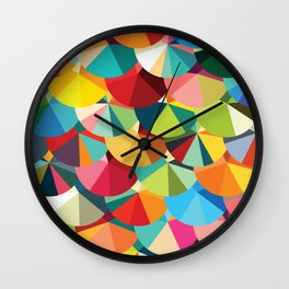 Piecharts Pattern Wall Clock