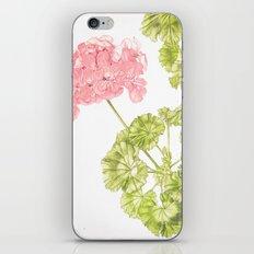 Pale Pink Geranium iPhone & iPod Skin