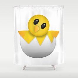 Hatching baby chick Emoji Shower Curtain