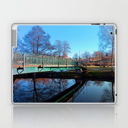 A bridge, the river and reflections II | waterscape photography Laptop & iPad Skin