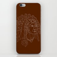 native american iPhone & iPod Skins featuring native american by johanna strahl
