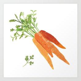 Carrot Illustration Art Print