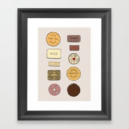 British Biscuits Framed Art Print