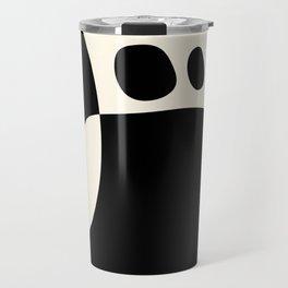shapes black white minimal abstract art Travel Mug