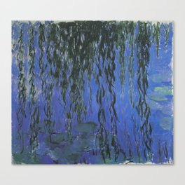Water Lilies and Weeping Willow Branches by Claude Monet Canvas Print
