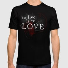 To live is to Love v3 Mens Fitted Tee Black SMALL