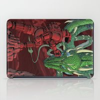 dragonball iPad Cases featuring The Dragon on Mars by David Comito