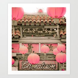 Los Angeles Chinatown Sign Art Print