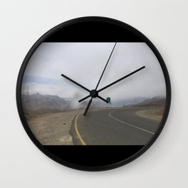 lonely roads.. Wall Clock