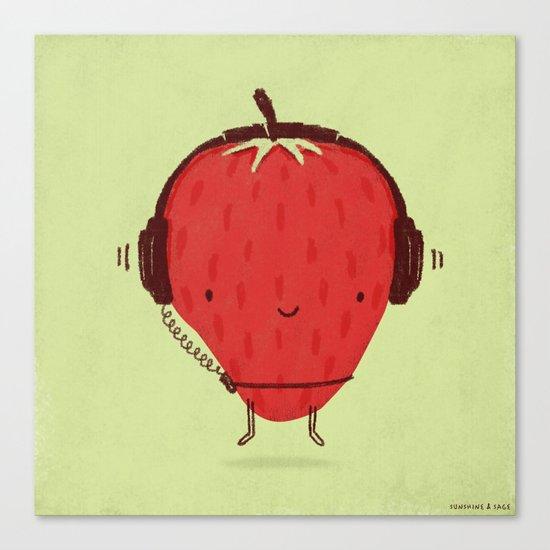 Strawberry Jammin' Canvas Print