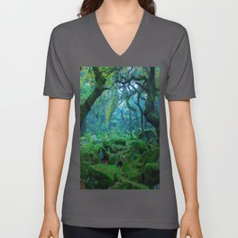 Enchanted forest mood Unisex V-Ausschnitt