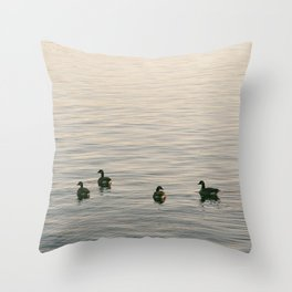 Float on Bye Throw Pillow