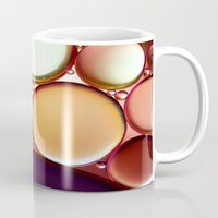 oil Mugs featuring Oil On Water Colourful by ALLY COXON