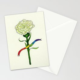 Pride Flowers: Green Carnation Stationery Cards